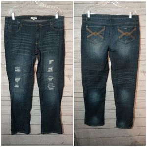 Cato distressed size 14 boot cut jeans